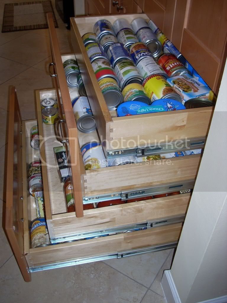 lower pantry storage drawers