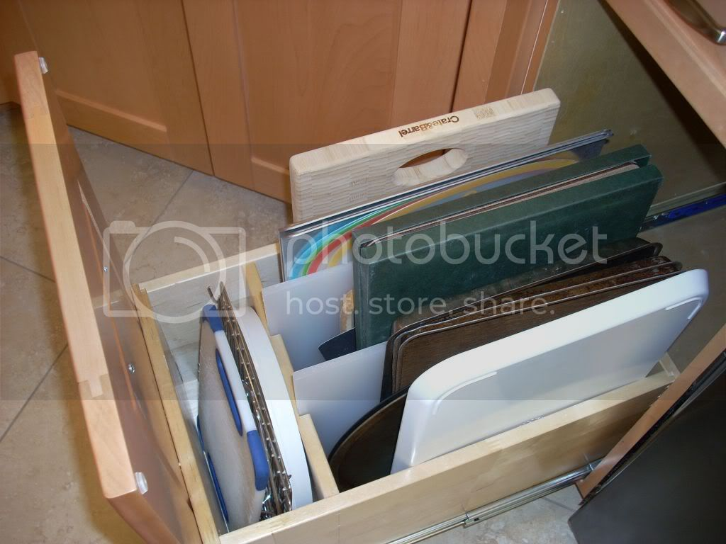 tray storage drawer