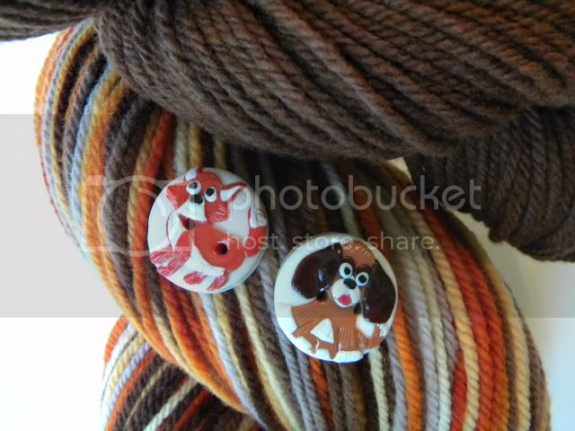 Sly Fox Yarn and Buttons