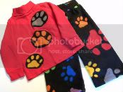 Paw Prints Fleece Set