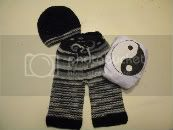 Yin Yang Knitted Set **Relist- See Changes**